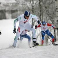 А.Гафаров в финале конькового спринта