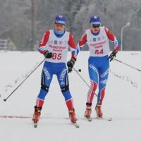 Победительница коньковой 'пятнашки' О.Михайлова (N84) и П.Медведева (N85)