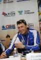 Александр Легков (золото в эстафете 5.04.07) на конференции
