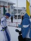 после финиша Кистанова Анна и Алексеева Надя